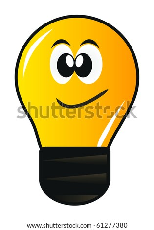 cartoon lamp with eye isolated over white background