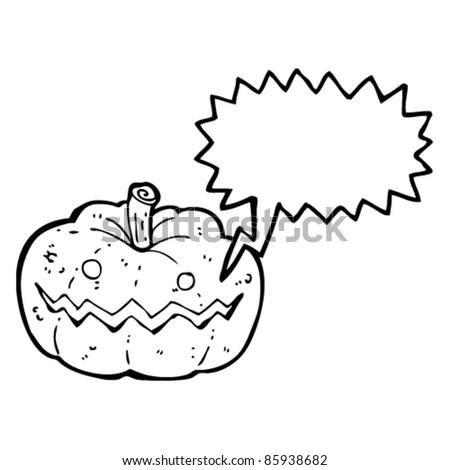 cartoon laughing halloween pumpkin