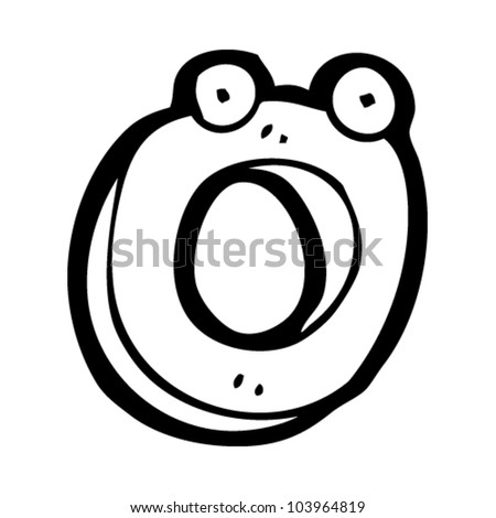 cartoon letter o with face