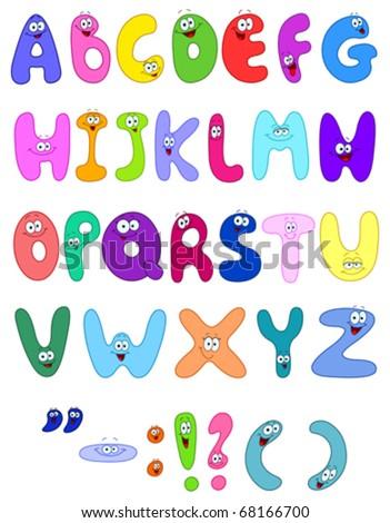 Cartoon letters