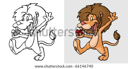 cartoon lion  vector illustration