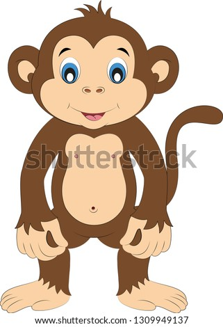 cartoon little monkey
