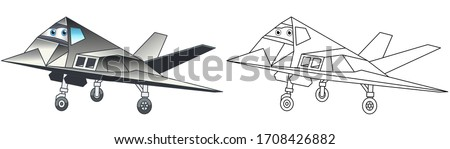 cartoon lockheed f 117