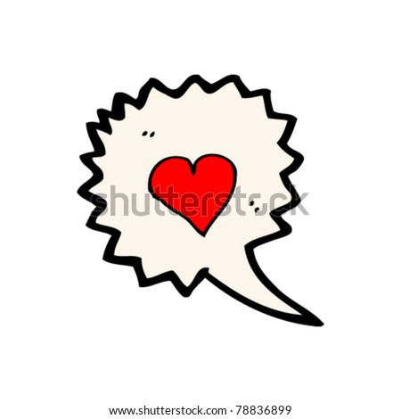 cartoon love heart speech bubble
