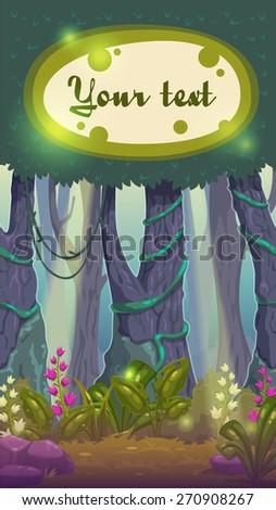 cartoon magic forest
