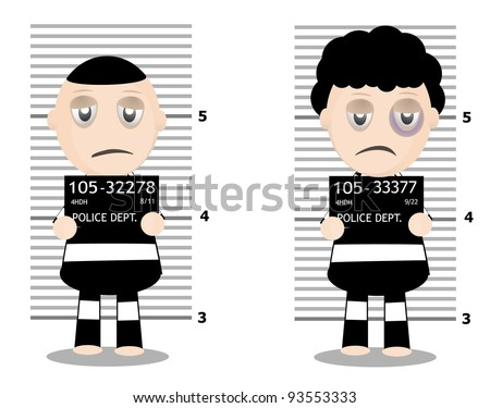 cartoon male inmates