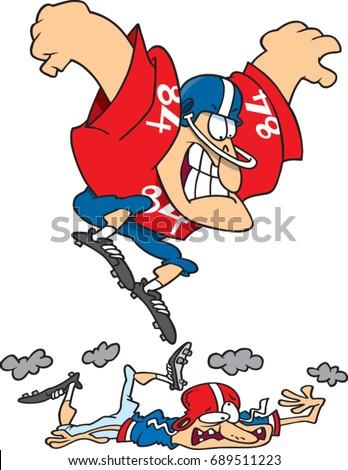 cartoon man football player