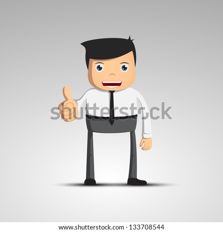 Cartoon man in a suit Vector character