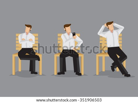 cartoon man on a bench in