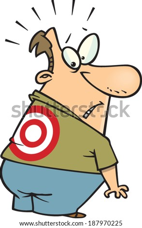 http://image.shutterstock.com/display_pic_with_logo/1256479/187970225/stock-vector-cartoon-man-with-a-target-on-his-back-187970225.jpg