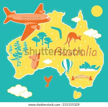 Australia Map Vector Download Free Vector Art Stock Graphics Images