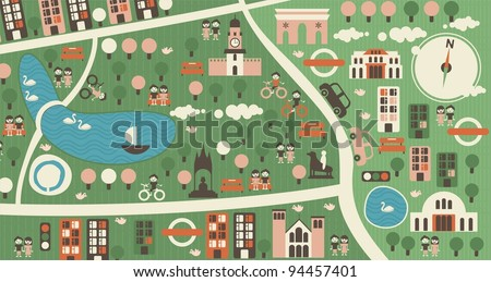 cartoon map of hyde park london