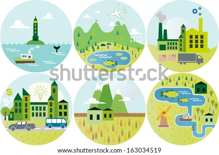 cartoon map seamless icon