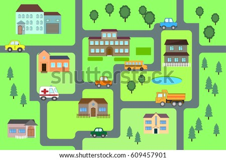Vector Funny Maze Game Help For Taxi Stock Photo