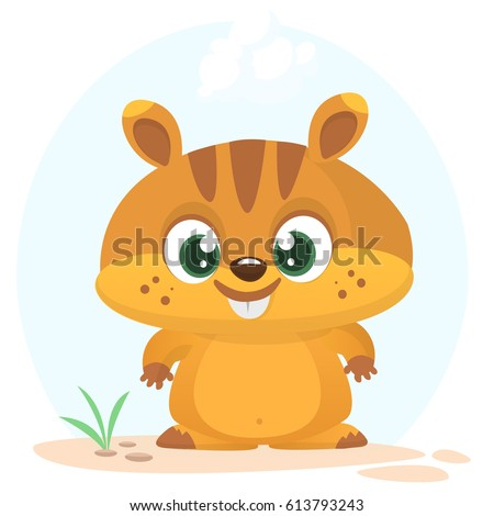 cartoon marmot icon vector