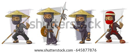 cartoon masked ninja warriors