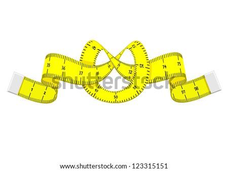 Cartoon measuring tape - stock vector