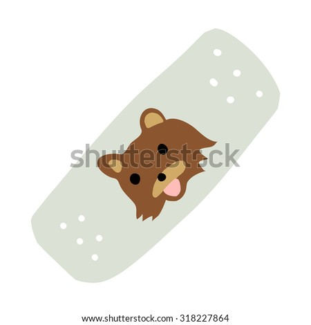 cartoon medical patch for kids