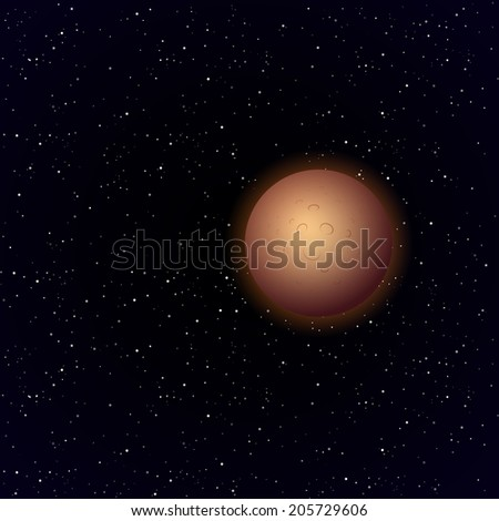 cartoon mercury planet in open