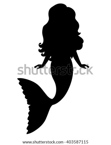 Cartoon Mermaid Silhouette