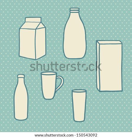 Cartoon Milk Bottle Cartoon Milk Objects Bottle