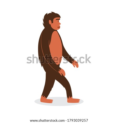 cartoon monkey or ape standing