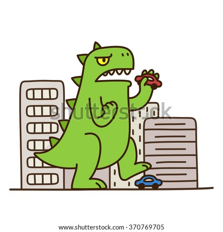 cartoon monster dinosaur