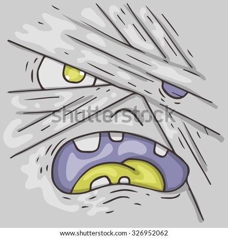 cartoon monster face halloween