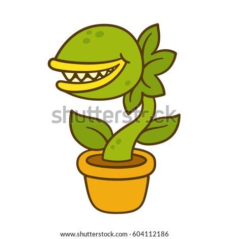 cartoon monster plant drawing....