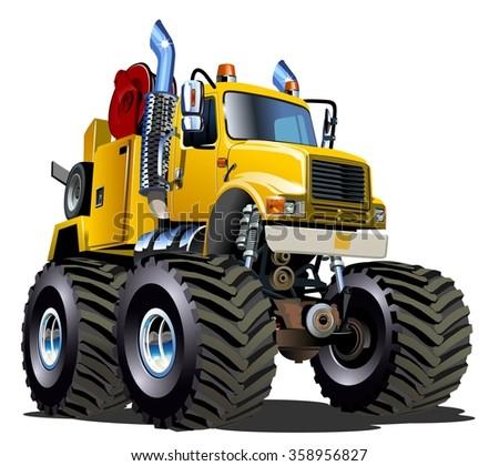 cartoon monster tow truck
