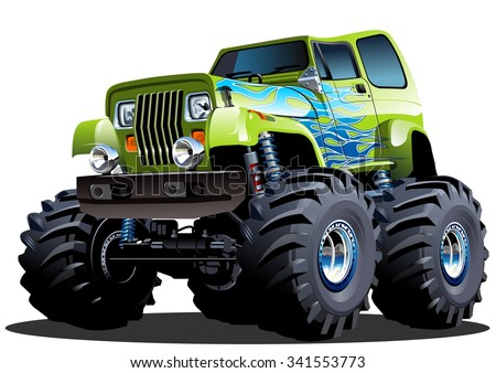 stock vector cartoon monster truck available eps separated by groups and layers with transparency effects 341553773 - Каталог — Фотообои «Для детской»
