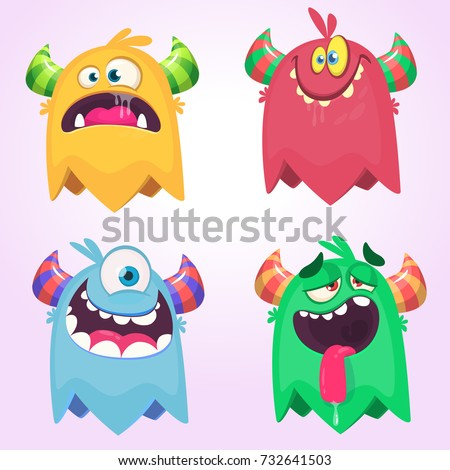 cartoon monsters set for