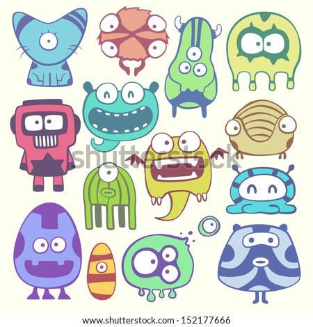cartoon monstters