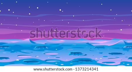 cartoon moon landscape with