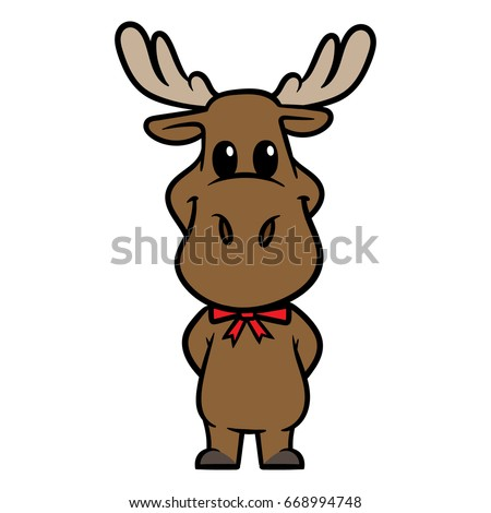 cartoon moose character vector illustration ez canvas rh ezcanvas com cartoon moose pictures free cartoon mouse pictures