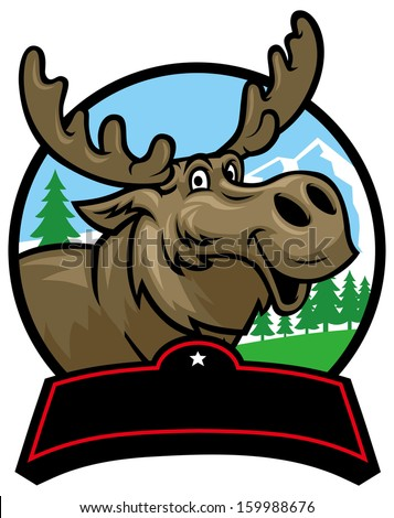cartoon moose mascot