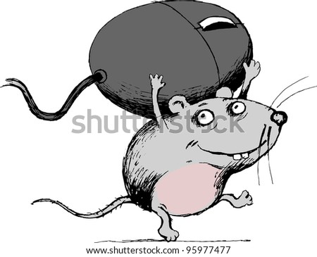 cartoon mouse rodent borne by the computer mouse