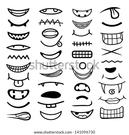 how to draw a smile with teeth