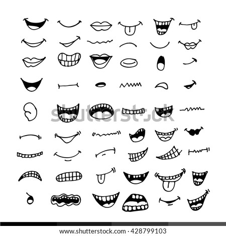 cartoon mouth icon illustration ...