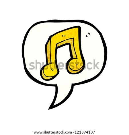 cartoon music note symbol