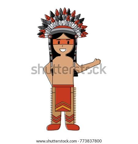 cartoon native indian american