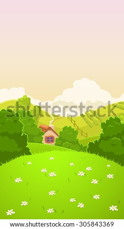 cartoon nature country