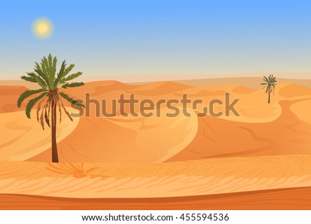 cartoon nature sand desert