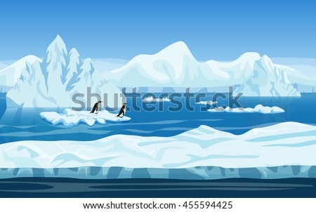 cartoon nature winter arctic