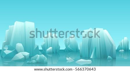 cartoon nature winter arctic