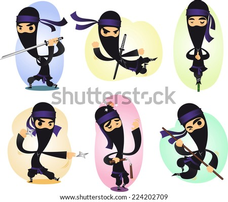 cartoon ninja action