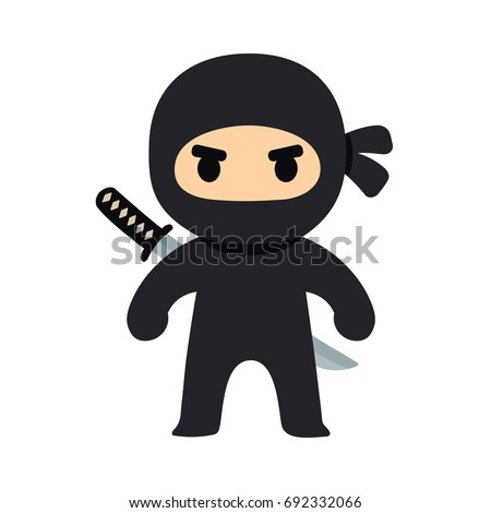 cartoon ninja drawing in chibi
