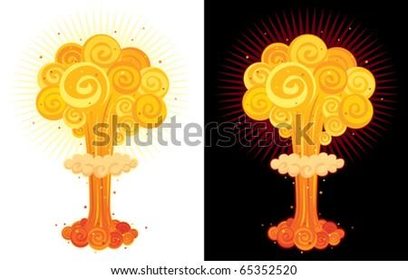 cartoon nuclear explosion