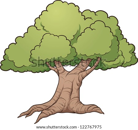 Oak Tree Cartoon Cartoon Oak Tree