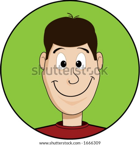 Cartoon of a smiling man's face